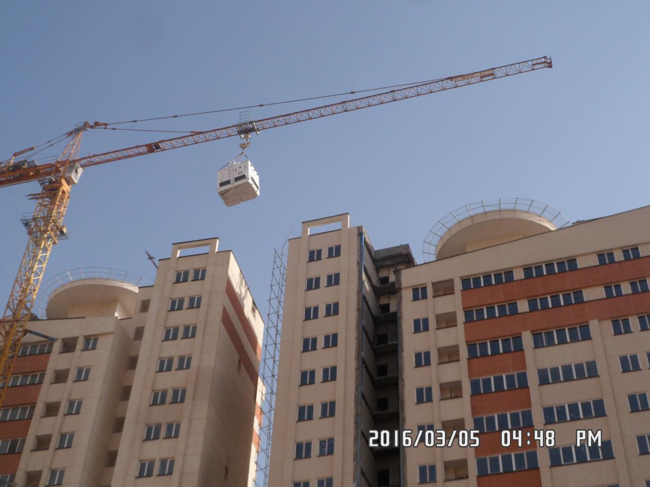 نصب پروژه برج خنک کننده 300 تنی آسمان